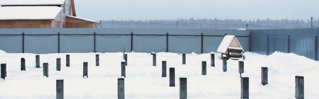 Монтаж фундамента на железобетонных сваях в Московской области